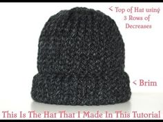 How To Loom Knit & Cast Off A Chunky Beanie Hat Pt.2 - YouTube