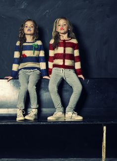 American Outfitters Winter 2012 Interesting to see bold stripes for the winter, its more usual in the summer childrenswear collections