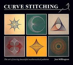 Line designs are created by connecting points on lines or curves with straight line segments. When carried out on cardboard with sewing needle and thread, the process is referred to as Curve Stitching or String Art. A lot of great examples.