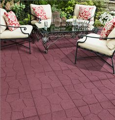 Eco-friendly pavers -- Envirotile is made with 100% recycled rubber, produced from car and truck tires; over 1 million tires are diverted from the landfill each year.    Envirotile 18 in. x 18 in. Flagstone Terra Cotta Rubber Paver