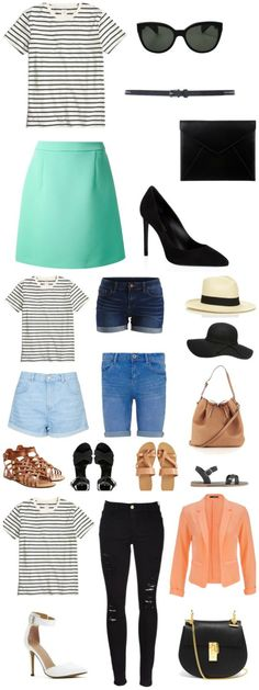 10 Ways to  Style a Striped Tee - from casual to date night the options are endless!! { lilluna.com }