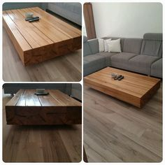 Coffetable from solid wood  www.reborn-w.sk