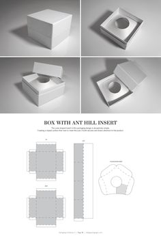 Box with Ant Hill Insert – structural packaging design dielines