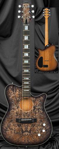 Kiesel Guitars AC275 Thinline Acoustic Electric Guitar Serial Number 130624