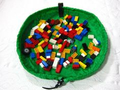 Lay-n-Go: Kids Play Mat - Toy and Lego Storage Bag {travel size}