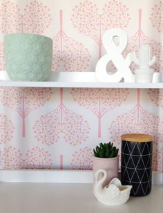 Removable Wallpaper Tree wallpaper Heart decor by BCMagicWallpaper