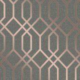 Fine Decor Quartz Trellis Copper Wallpaper FD42307