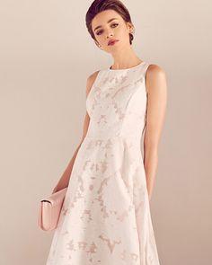 Ted Baker Blush Pink ROSHI Burnt out sleeveless dress