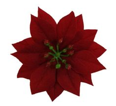 Red Velvet Christmas Poinsettia Flower Hair Clip * You can find more details by visiting the image link.