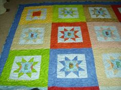 One of the first quilts I did for my oldest grandson. this was a labor of love for me. TRAINS