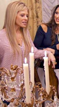 Dina Manzo's Honeycomb Print Blouse | Big Blonde Hair : Big Blonde Hair http://www.bigblondehair.com/real-housewives/rhonj/dina-manzos-honeycomb-print-blouse/ Real Housewives of New Jersey Fashion