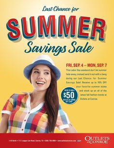 Last Chance for Summer Savings Labor Day Weekend Sale.