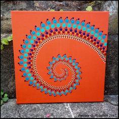 Spirale fond orange