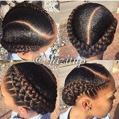Two Braids Natural Hair Ideas Two Braids Natural Hair. Here is Two Braids Natural Hair Ideas for you. Two Braids Natural Hair hair care ideas 2 braids and 2 low buns beauty haircut. Natural Hair Braids, Natural Hair Care, Natural Hair Styles, African Hairstyles, Girl Hairstyles, Braided Hairstyles, Cornrolls Hairstyles Braids, Mixed Hairstyles, Black French Braid Hairstyles
