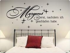 Amazing Schlafzimmer Wandtattoo Spruch in modernen Design