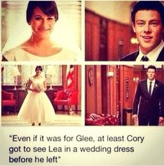 I don't even watch Glee, but my heart goes out for all of his family and friends, especially Lea.