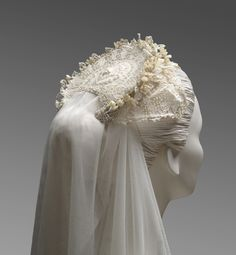 Grace Kelly's Wedding Headpiece, 1956, designed by Helen Rose and made by the wardrobe department of Metro-Goldwyn-Mayer