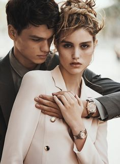 Luna Bijl and Filip Hrivnak by Lachlan Bailey for Emporio Armani's spring-summer 2016 campaign