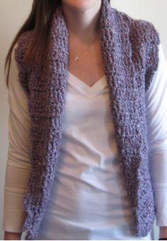 Easy Triple Crochet vest pattern