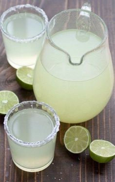 With this perfect pitcher margarita recipe it's just fresh lime juice, triple sec, and tequila.