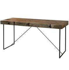 Industrial Modern Wood Office Desk