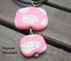 EXCLUSIVE Pendant Gaudí Inspiration Pink ÚNICO por BugambiHandmade