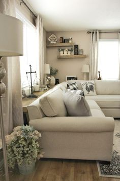 Fixing What I Thought was Right…Our Living Room - - Fixing What I Thought was Right…Our Living Room Farmhouse! Fixing What I Thought was Right…Our Living Room – Farmhouse Flare Designs Living Room White, White Rooms, New Living Room, Living Room Modern, My New Room, Living Room Sofa, Living Room Interior, Home And Living, Living Room Designs