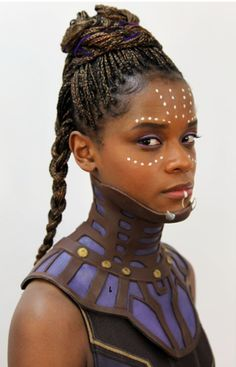 You are watching the movie Black Panther on Putlocker HD. King T'Challa returns home from America to the reclusive, technologically advanced African nation of Wakanda to serve as his country's new leader. Shuri Black Panther, Black Panther 2018, Marvel Dc, Marvel Girls, Marvel Comics, Marvel Women, Wakanda Marvel, Maquillage Black, Black Panther Costume