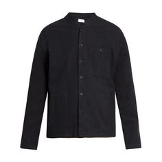 Fanmail Mandarin-collar cotton-flannel shirt (€245) ❤ liked on Polyvore featuring men's fashion, men's clothing, men's shirts, men's casual shirts, black, mens mandarin collar shirt, mens casual long sleeve shirts, mens longsleeve shirts, mens flannel shirts and mens long sleeve shirts Casual Shirts For Men, Men Casual, Banded Collar Shirts, Mandarin Collar Shirt, Mens Flannel Shirt, Men's Shirts, Men's Clothing, Long Sleeve Shirts, Men's Fashion