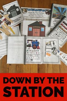 Down By The Station: Circle Time Song differentiated Circle Time Songs, Transportation Unit, Conversation Cards, Simple Sentences, English Language Learners, Preschool Lessons, Language Activities, Speech And Language, Prompt