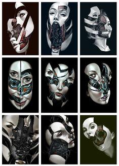 http://biz02.deviantart.com/ #cyberpunk #cyborg #illustration