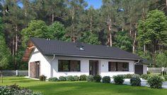 DOM.PL™ - Projekt domu HP SMART C CE - DOM HP1-93 - gotowy koszt budowy Modern House Plans, Cottage Homes, Planer, Shed, Floor Plans, House Design, Outdoor Structures, Flooring, Interior Design
