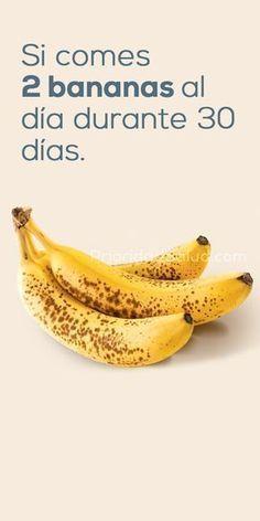 Si comes 2 bananas al día tu cuerpo beneficiará de todo esto.