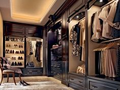 A beautiful closet with a masculine feel | Dream Walk-in- Closets