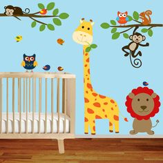 Jungle Animals Vinyl Wall Sticker Decal For Baby Nursery