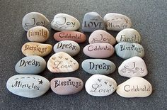 Wedding Stones - the perfect little feature for your romantic day that is easy, cost-effective and really meaningful for both you and your wedding guests!