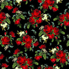 Seamless Floral Pattern With Of Red Roses On Black Background Vector Illustration Royalty Free Stock Image 183174158 From Shutterstock