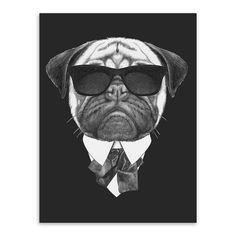 Modern Black White Italy Mafia Fashion Poster