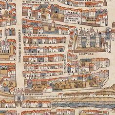 Map of Paris Circa 1550 | Old Maps of Paris