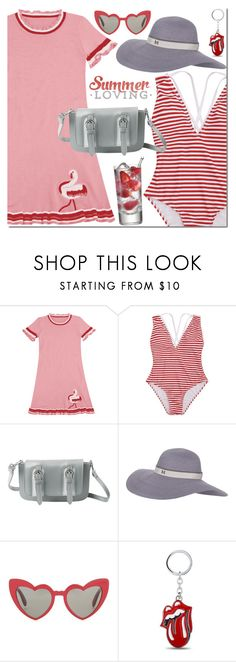 """""""Red & grey"""" by mada-malureanu ❤ liked on Polyvore featuring Maison Michel and Yves Saint Laurent"""