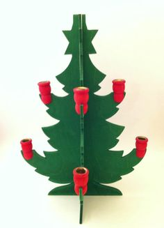 Swedish Christmas Tree Candle Holder Wooden Christmas by Comforte, $12.00