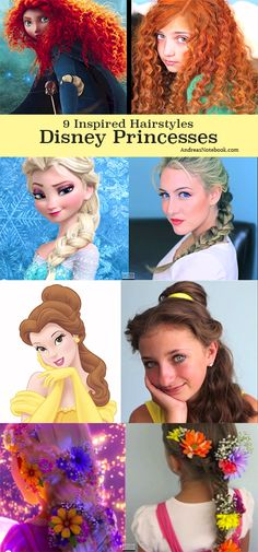 9 Disney Princess hair tutorials (video)