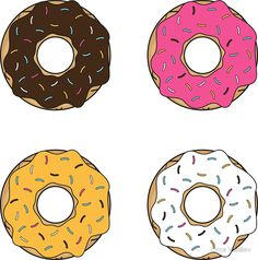 'Tasty Donuts Pattern' Sticker by Orce Vasilev Reward Stickers, Teacher Stickers, Planner Stickers, Donut Cartoon, Preppy Stickers, Candy Theme, Donut Party, Good Notes, Pattern Illustration