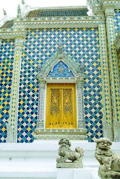 Temple doors. Thailand