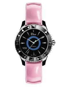 La montre Dior VIII rose métallisé de Dior http://www.vogue.fr/joaillerie/le-bijou-du-jour/diaporama/la-montre-dior-viii-bleu-metallise-de-dior/16883#!la-montre-dior-viii-rose-metallise-de-dior