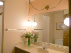 Bathroom vanity hanging lights