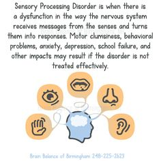 #Sensory #Processing Disorder (#SPD) is when there is a #dysfunction in the way the #nervoussystem receives #messages from the #senses and turns them into #responses. #Motor #clumsiness, #behavioral problems, #anxiety, #depression, #school #failure, and other impacts may result if the disorder is not #treated effectively. #wecanhelp #callustoday  #Birmingham #MI #Michigan #brainbalance #addressthecause