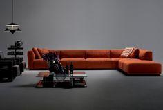 Corner sofa / modular / contemporary / fabric - 271 MEX CUBE - Cassina