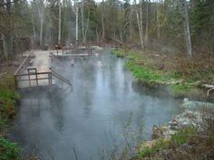 Hot Springs in Yukon Territory, Canada
