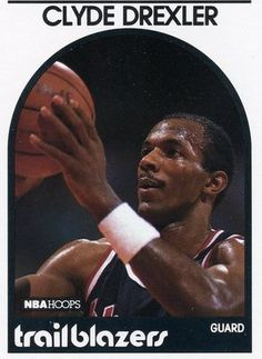 RARE 89/90 NBA HOOPS CLYDE DREXLER PORTLAND TRAILBLAZERS MINT